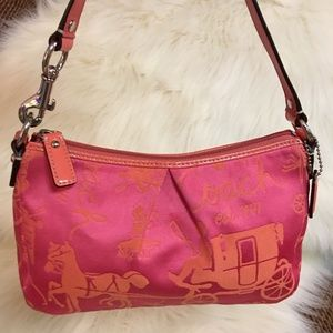 COACH HORSE & CARRIAGE Signature Top Handle Bag